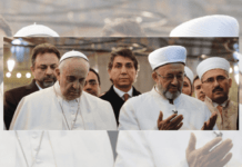 Pope Francis with religious leaders