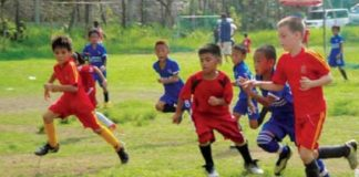 kids playing football davao