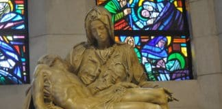 Hollywood and Holy wood pieta