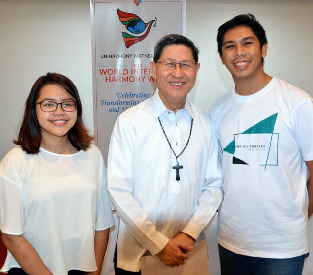 Focolare Youth Representatives with Cardinal Tagle