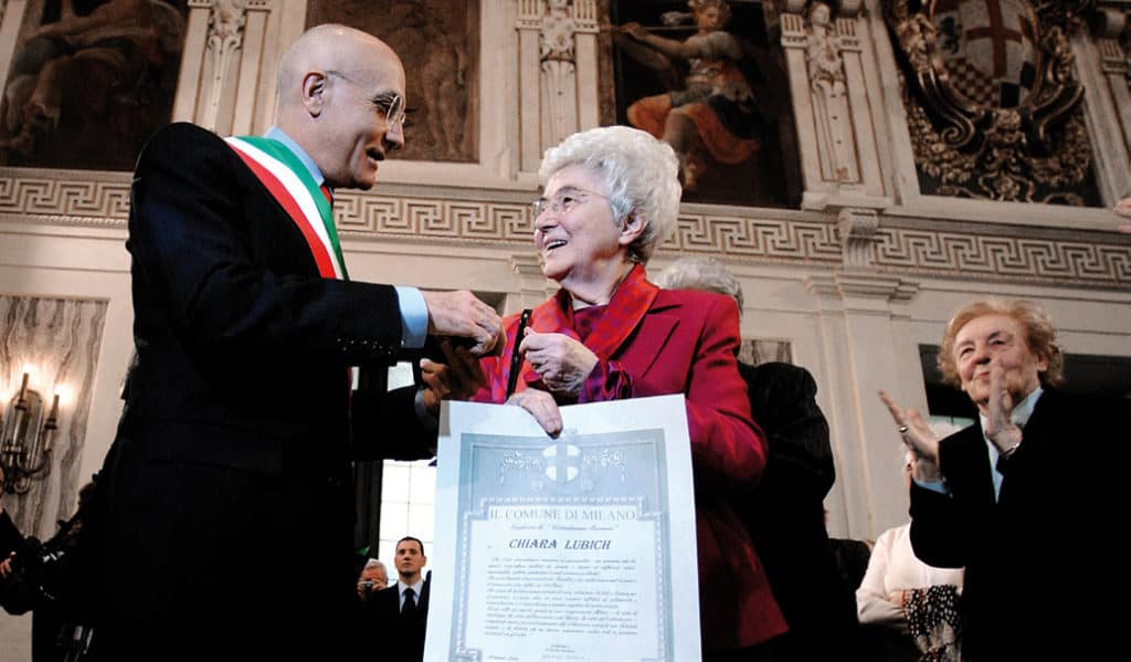 Chiara Lubich received the honorary citizenship of Milan on March 2004.