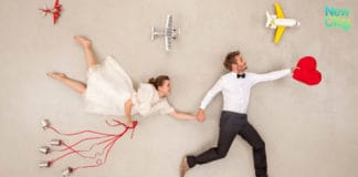 Marriage celebrated aboard a plane