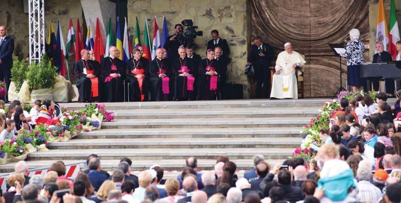 Maria Voce, Focolare President, addressing Pope Francis