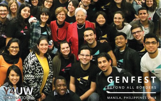 Maria Voce with the Gen from all over the world