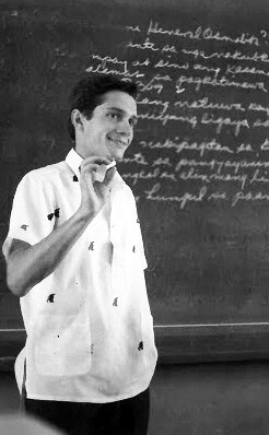 Silvio during his teaching stint in the then De La Salle College in Manila