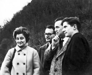 ilvio and other focolarinos with Chiara Lubich during her 1964 visit to the United States