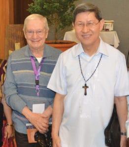Silvio with Cardinal Tagle